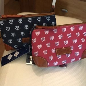 NWT D&B Sport Cosmetic Cases Navy & Red
